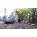 Transport of rocks and  Nobe-dan materials into the Japanese garden