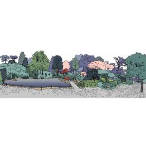Budapesti Fővárosi Állat és Növénykert Japanese garden presentation plans